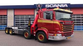 Scania R520 voor H. van der Heg