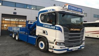 Scania R580 voor Stangeland Maskin (NO)