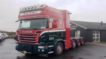 Scania R730 voor Frank Nørager & Co. A/S (DK)