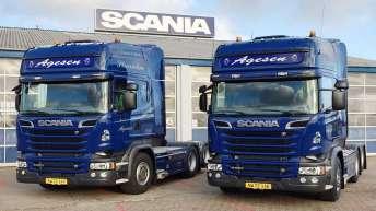 Twee Scania R520 trekkers voor Jesper Agesen (DK)