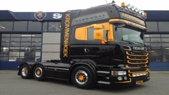 Scania R580 voor R. Krommenhoek