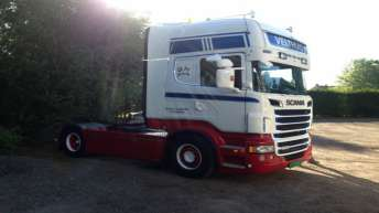 Scania R500 voor Velthuis Transport