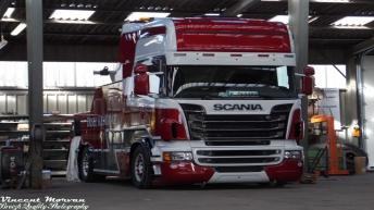 Scania R620 in opbouw voor Disez-Kergoat