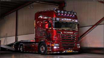 Scania R730 voor Vos Truckparts