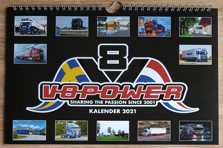 De V8power kalender 2021 is nu te bestellen