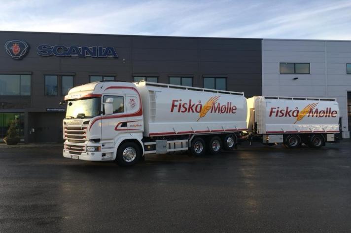 Scania R580 voor Fiskå Mølle (NO)