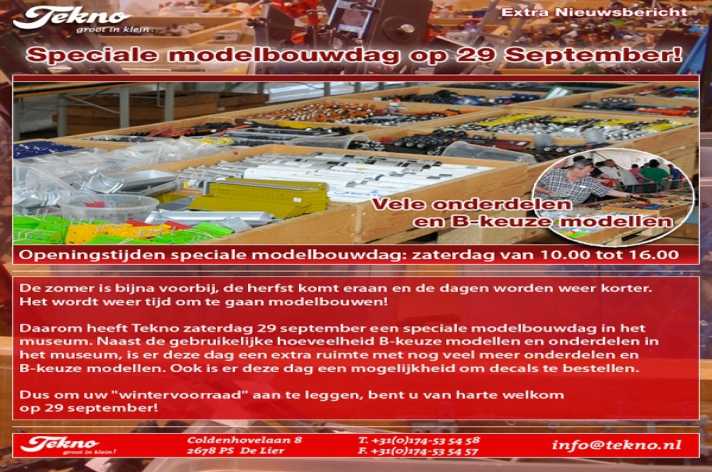 Modelbouwdag Tekno 29 september