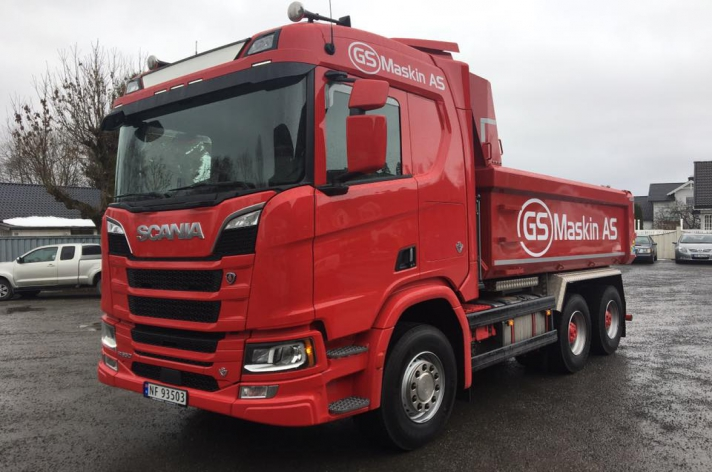 Scania R650 voor GS Maskin AS (NO)