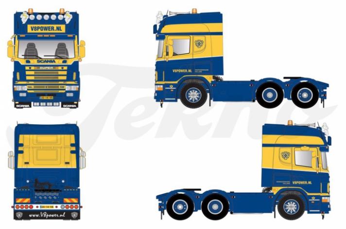 Scania 144 530 schaalmodel