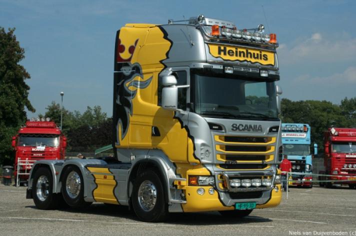 Scania R730 Gebr. Heinhuis mooiste truck op V8dag