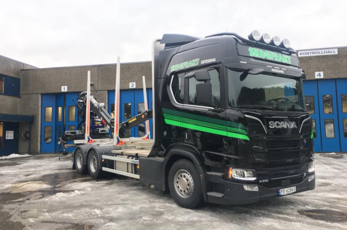 Scania R730 voor Skogfrakt AS (NO)