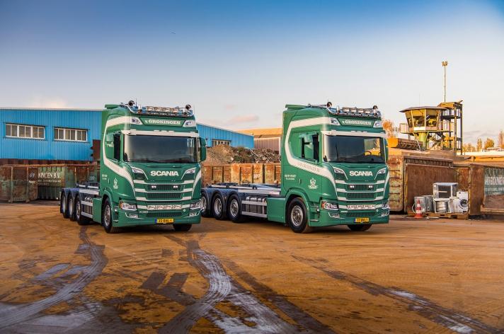 2x Scania R580 voor Van Groningen Nieuw Vennep BV
