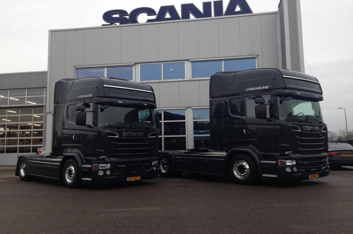 Scania R520 trekkers voor Van Amersfoort Racing