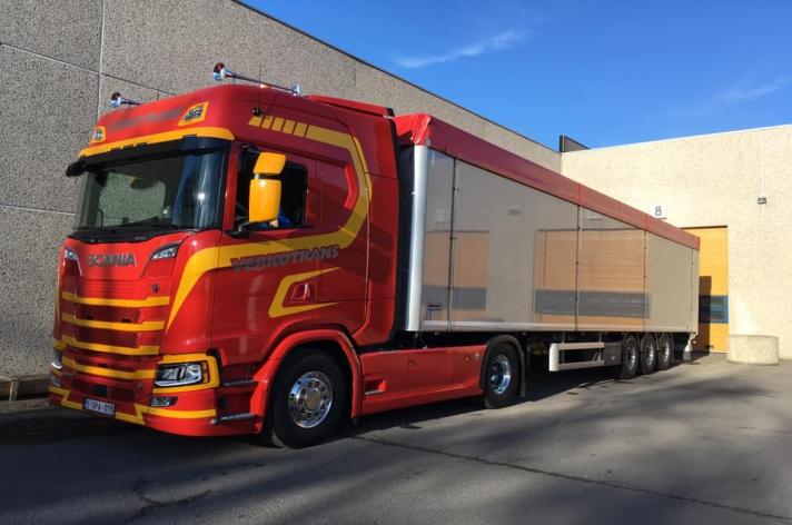 Scania S580 voor Verkotrans uit Heule