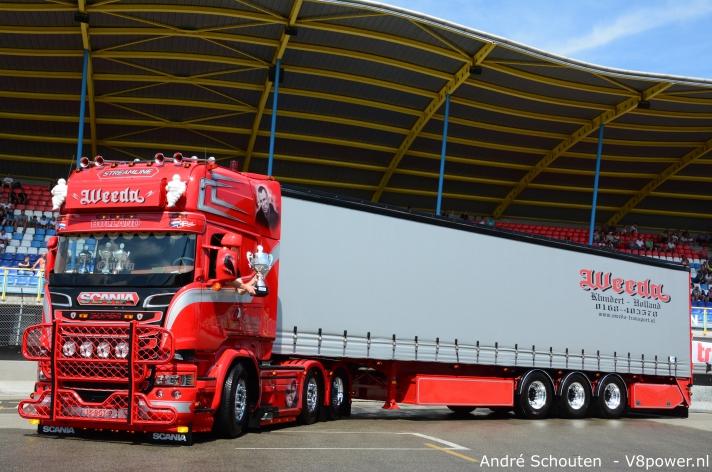 Scania R450 van Weeda mooiste van Nederland