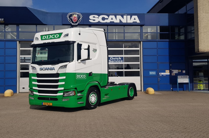 Scania S520 voor Dijco Transport