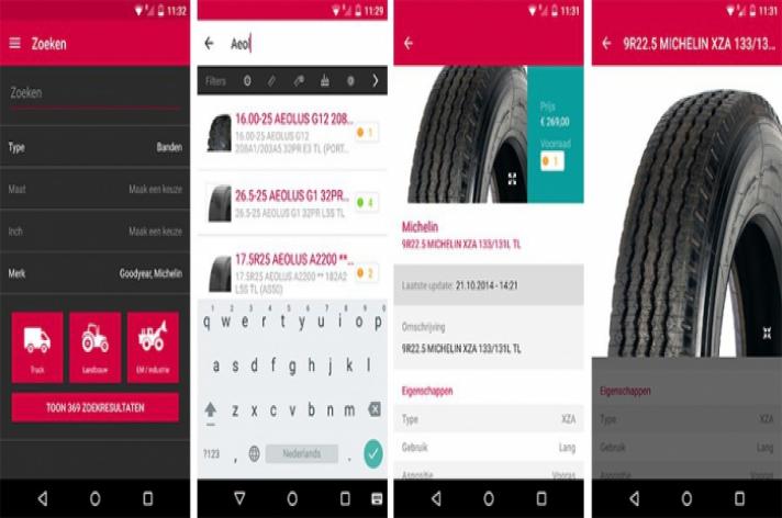 Speciale banden-app van Heuver
