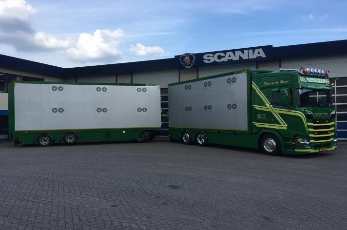 Nieuwe Scania S580 combi voor E. van 't Slot uit Elspeet