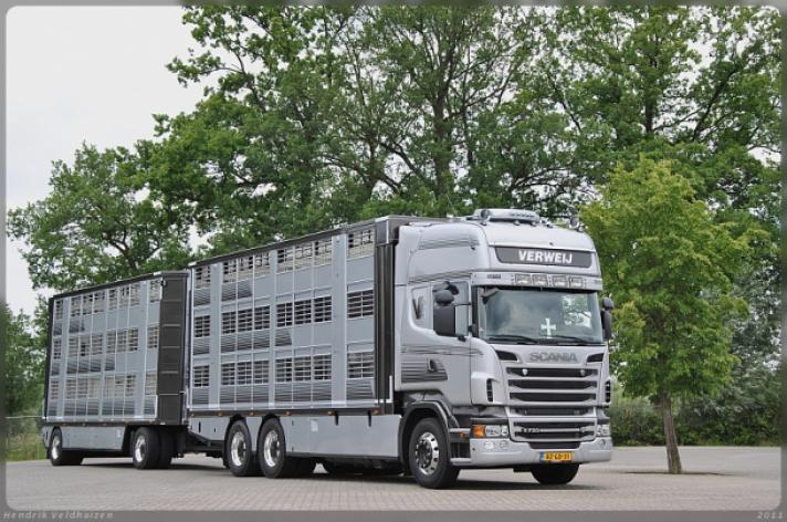 Scania R730 voor Verweij
