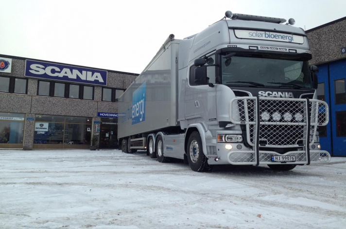 Scania R580 voor Solør Bioenergi AS (NO)