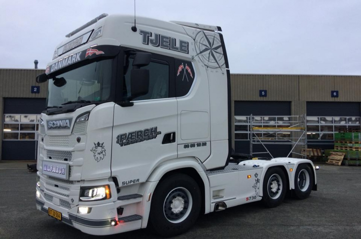 Scania S730 voor Færch transport (DK)