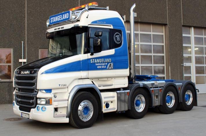 Unieke Scania T730 voor Stangeland Maskin AS (NO)