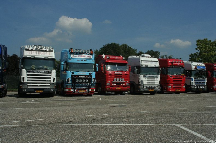 Tweede Scania V8 dag in Hengelo