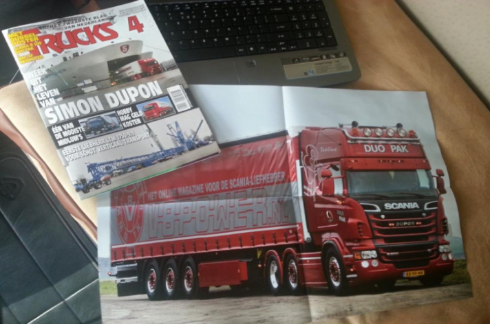 Scania poster in Trucks Magazine