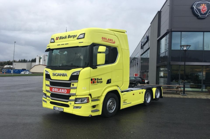 Scania R580 voor Ørland Transport As (NO)