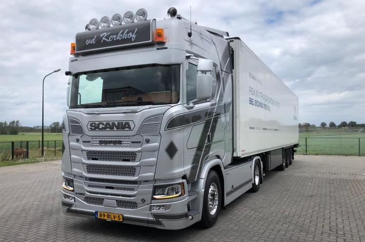 Scania S580 voor v.d. Kerkhof Transport B.V. / Grashoek