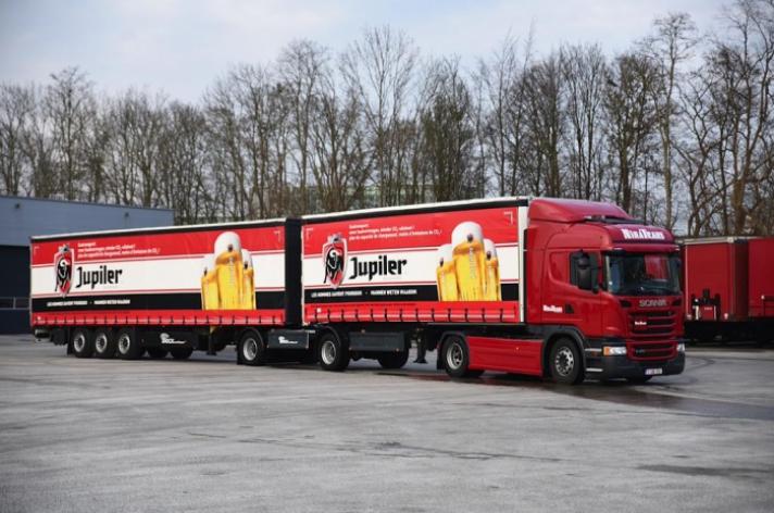 Eerste Lange Zware Vrachtwagens (LZV) rijden in Belgie