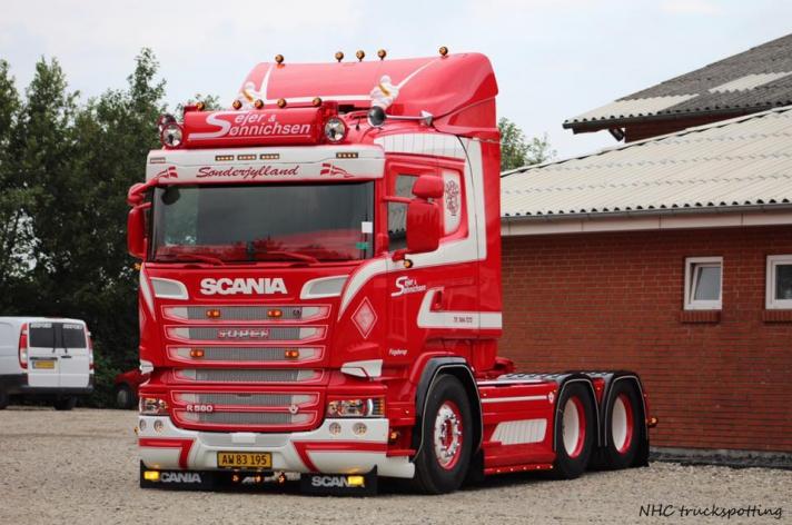 Scania R580 voor Sejer & Sønnichsen A/S (DK)