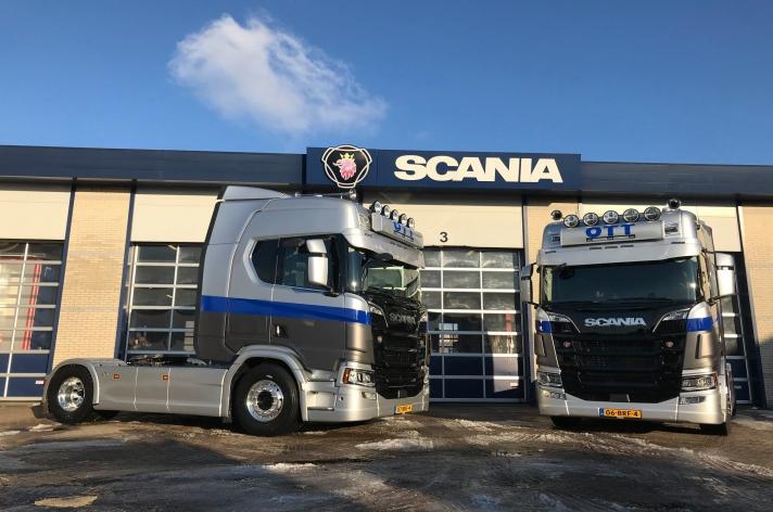 Twee Scania R520 trekkers voor Pallethandel OTT