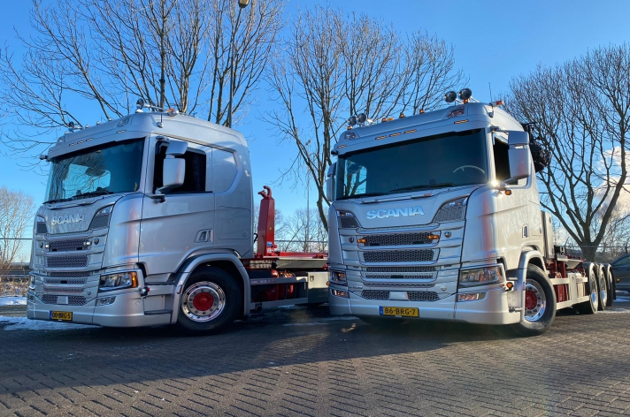 2x Scania R650 voor R2 Transport & Containers BV