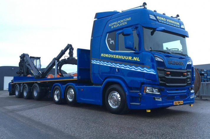 Scania R520 voor Koko Verhuur
