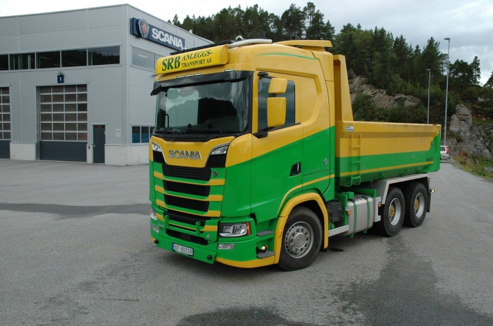 Scania S580 voor SRB Anleggstransport A/S (NO)