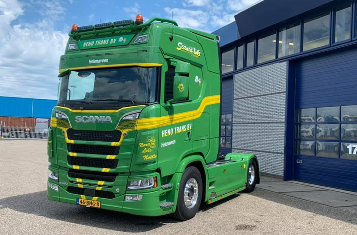 Scania S580 voor Heno Trans  BV