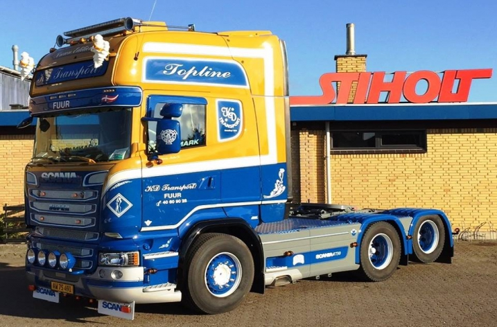 Scania R730 voor KD Transport (DK)