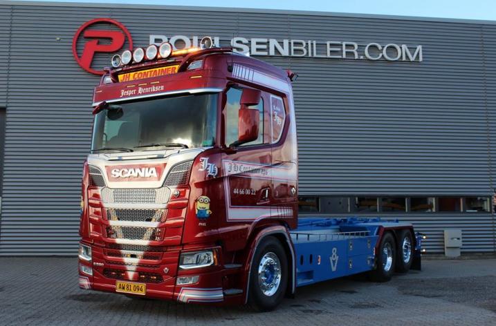 Scania S580 voor JH Container (DK)