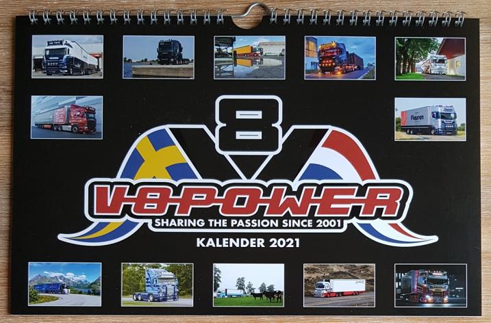 De V8power kalender 2021 is nu te bestellen