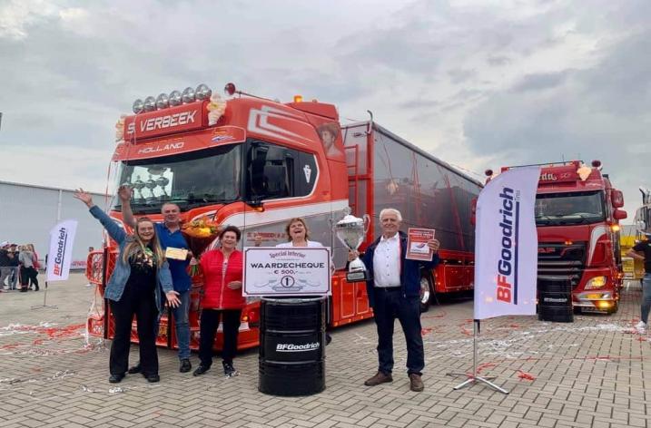 S. Verbeek met Scania R650 Mooiste truck van Nederland