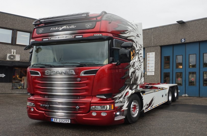 Scania R730 voor Arve Rong Transport a/s (N)