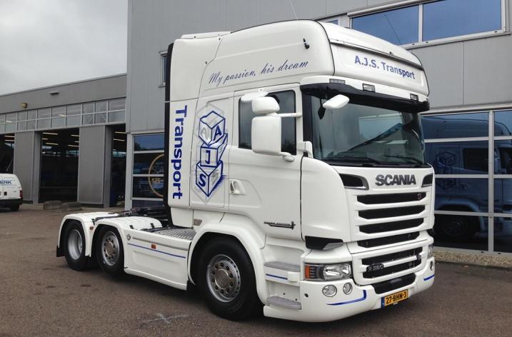 Scania R520 voor A.J.S. Transport uit Ridderkerk