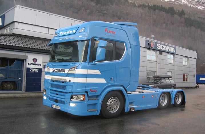 Scania R580 NextGen voor Flåten Termotransport AS (NO)