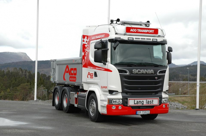 Scania R580 voor Aco Transport A/s (NO)