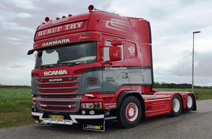Scania R580 voor N.C. Christensen & Sønners (DK)