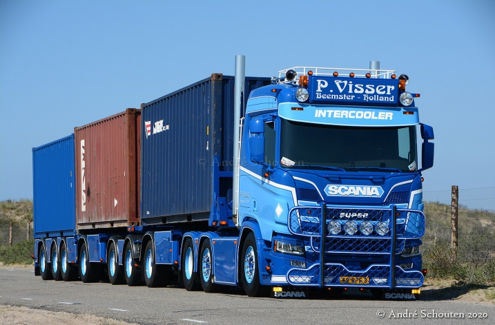 Scania R650 voor P. Visser Transport