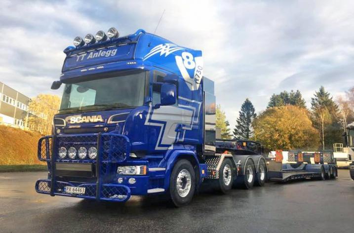 Scania R730 zwaartransport trekker voor TT Anlegg As (NO)