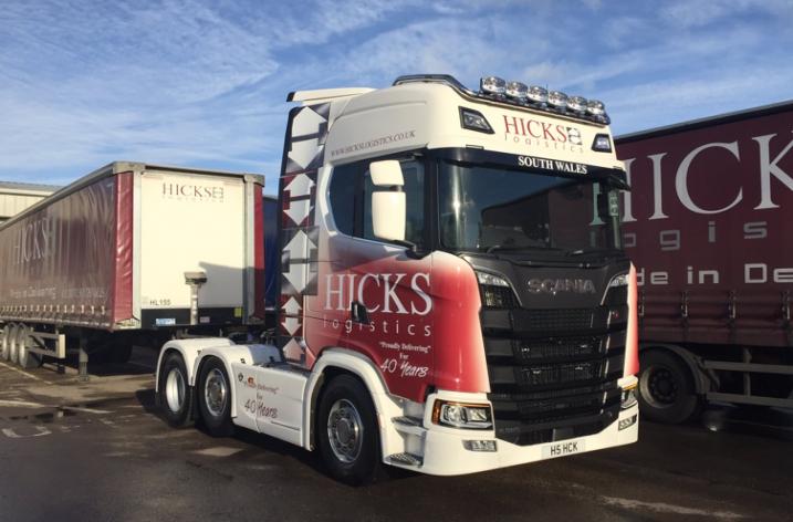Scania S520 voor Hicks Logistics