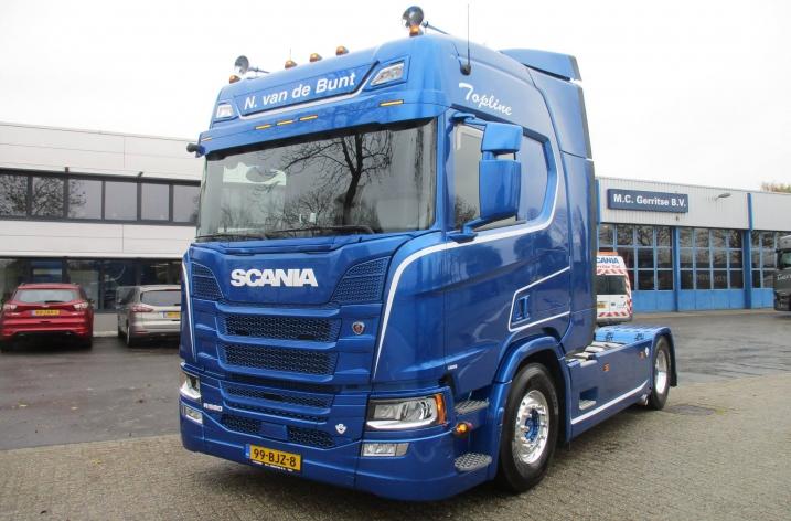 Scania R580 voor N. van de Bunt